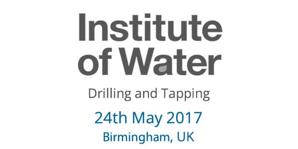2017 Institute of Water Drilling & Tapping at Utility Week Live